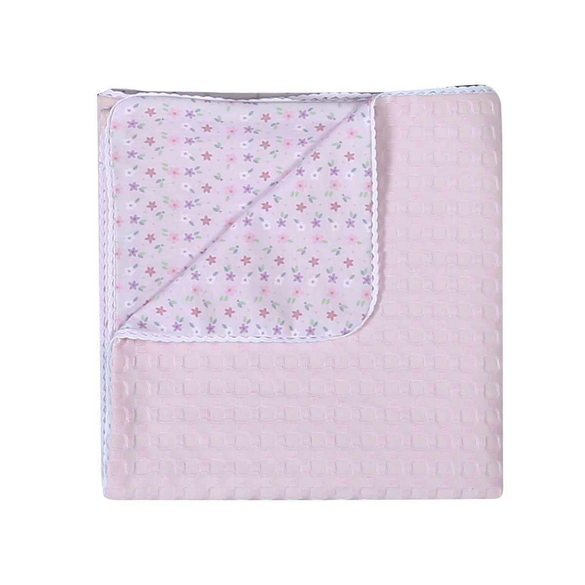 Κουβέρτα Πικέ Κούνιας - Jersey Nef-Nef Daily Pink home   βρεφικά   κουβέρτες βρεφικές   κουβέρτες καλοκαιρινές