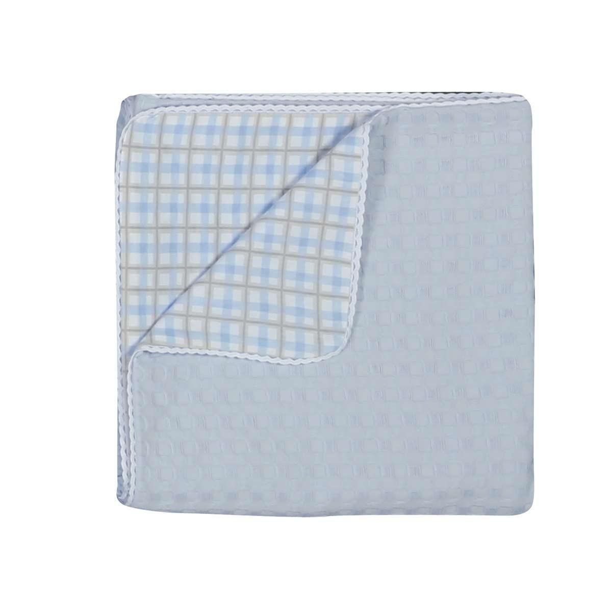 Κουβέρτα Πικέ Κούνιας - Jersey Nef-Nef Daily Blue