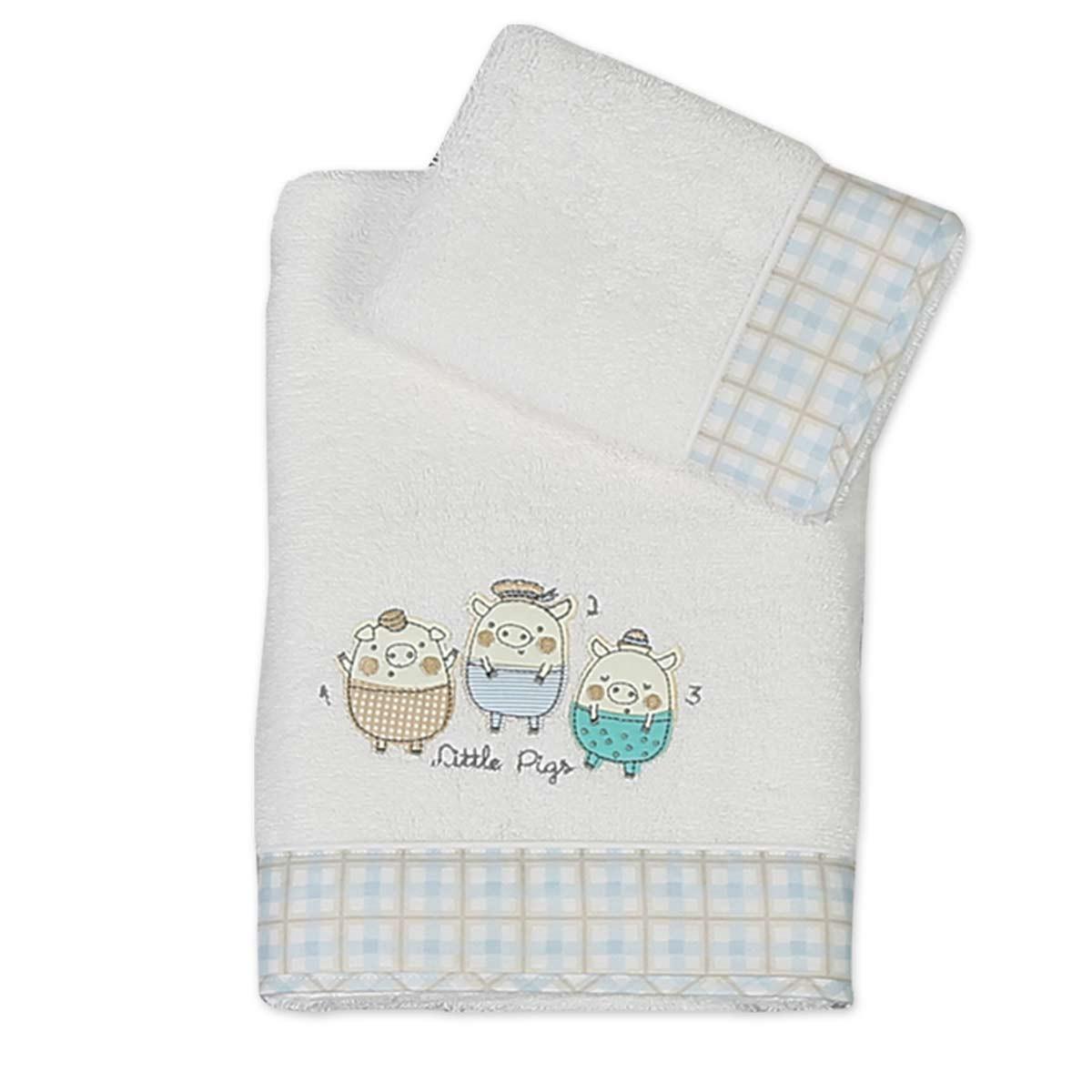 Βρεφικές Πετσέτες (Σετ 2τμχ) Nef-Nef Baby 3 Pigs