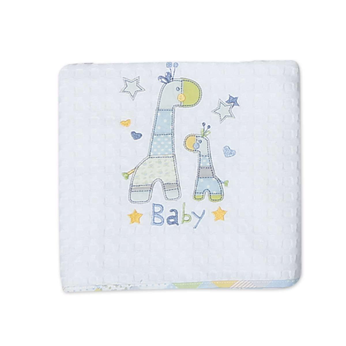 Κουβέρτα Πικέ Κούνιας Nef-Nef Baby Baby Girafe home   βρεφικά   κουβέρτες βρεφικές   κουβέρτες καλοκαιρινές