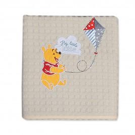Κουβέρτα Πικέ Κούνιας Nef-Nef Disney Winnie Fly Kite
