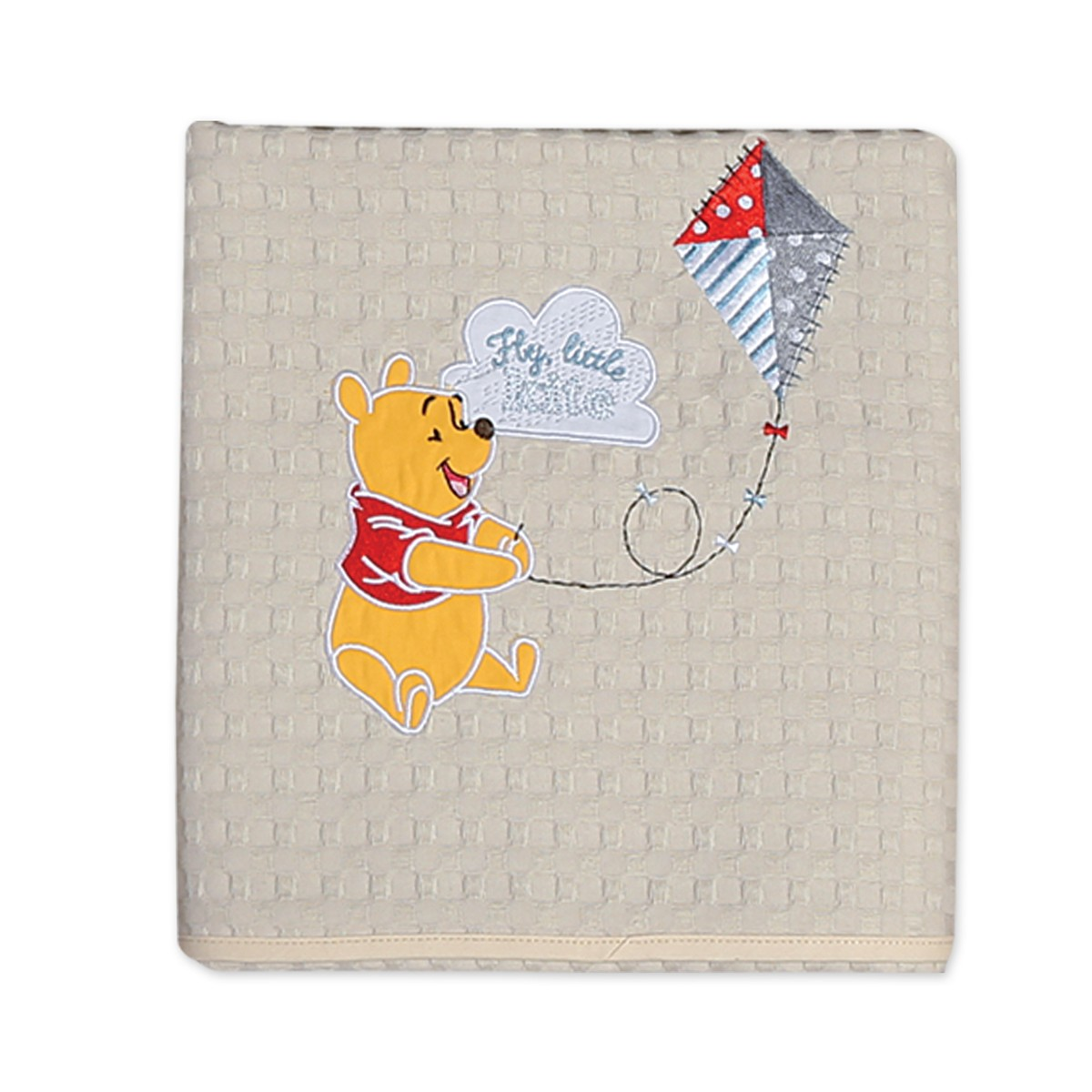 Κουβέρτα Πικέ Κούνιας Nef-Nef Disney Winnie Fly Kite home   βρεφικά   κουβέρτες βρεφικές   κουβέρτες καλοκαιρινές