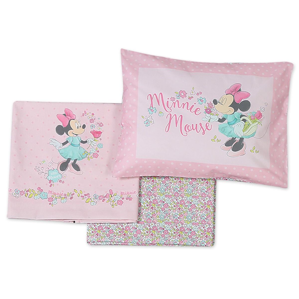 Σεντόνια Κούνιας (Σετ) Nef-Nef Disney Minnie Little Flower