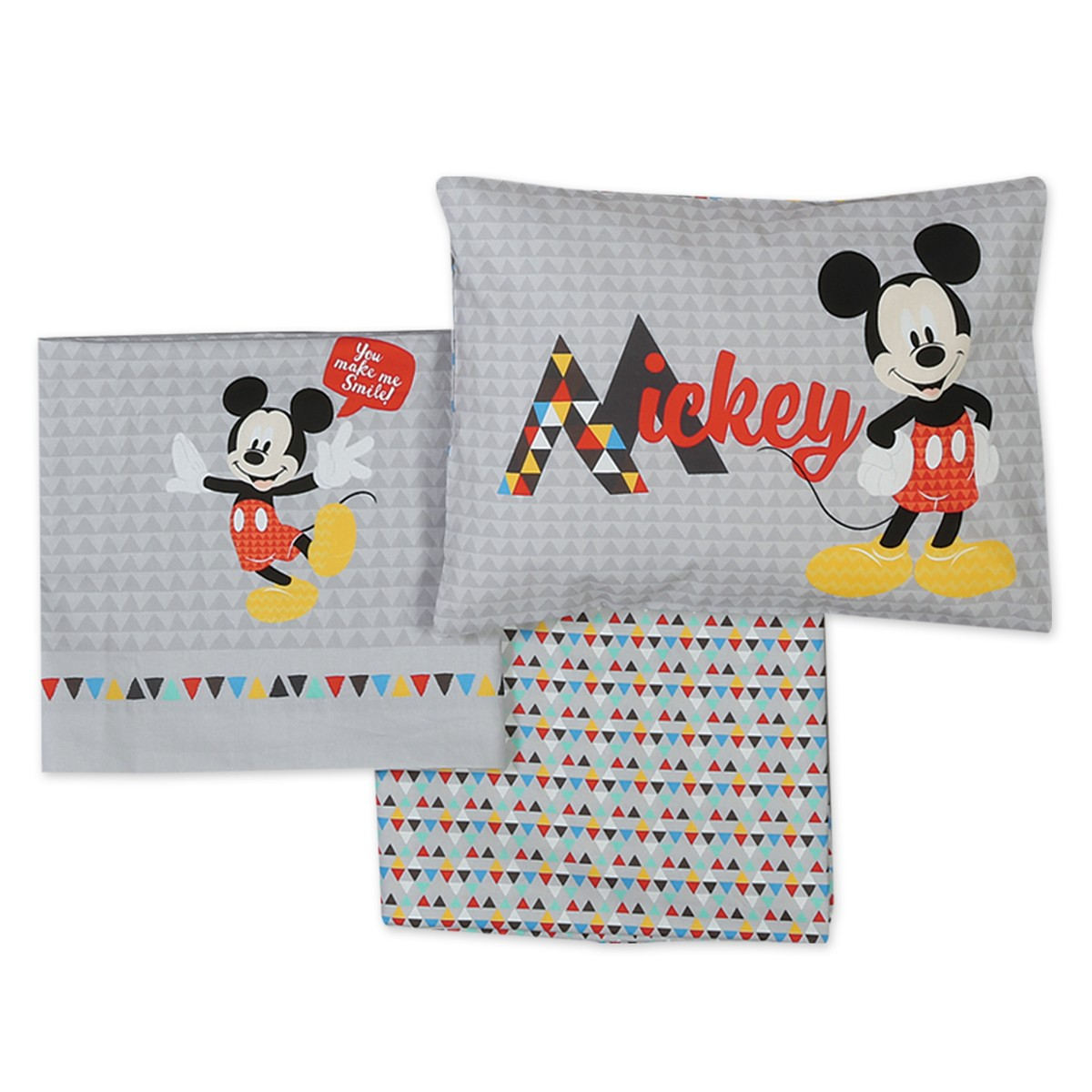 Σεντόνια Κούνιας (Σετ) Nef-Nef Disney Mickey Smile