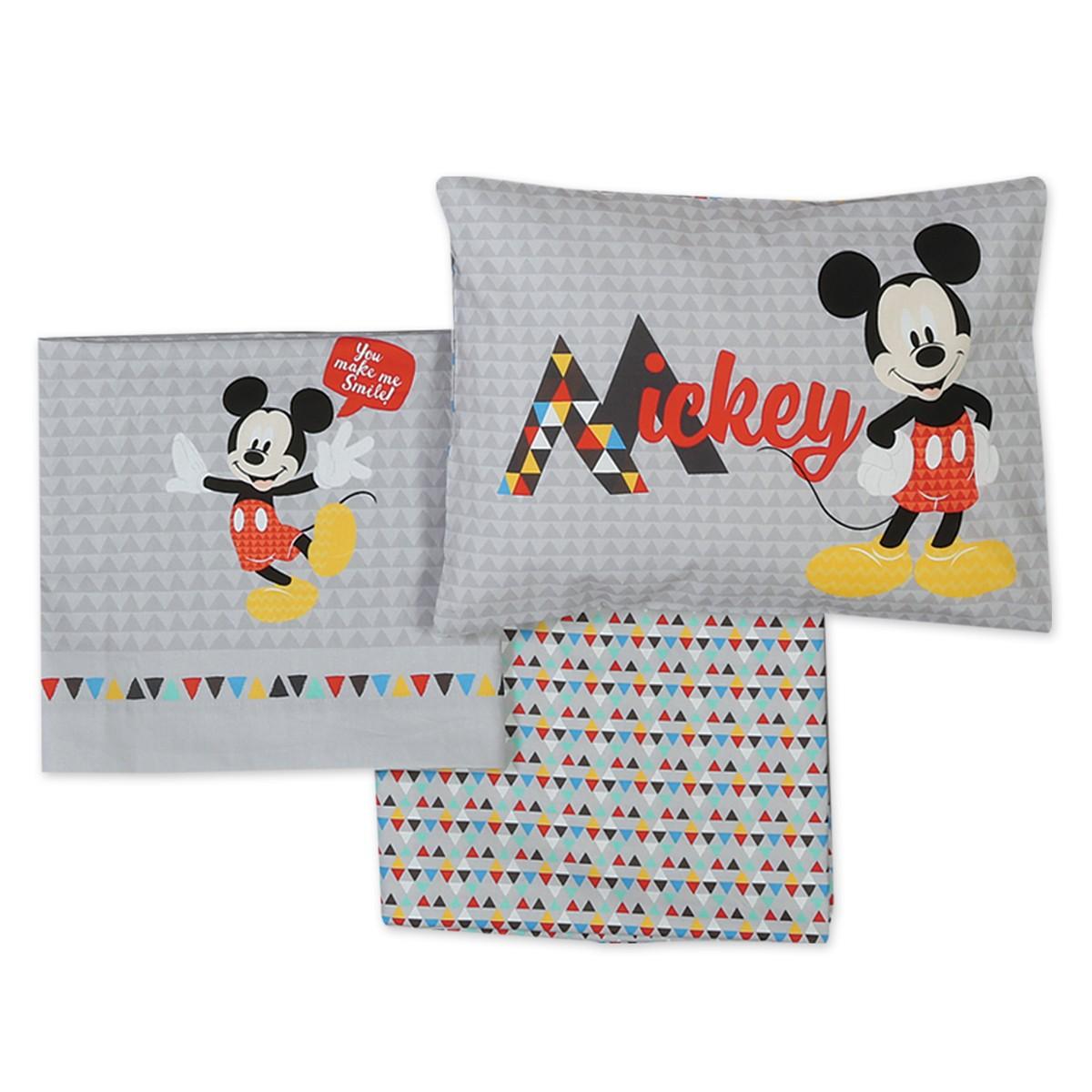 3ac165e94ab -50% Spiti Shop Σεντόνια Κούνιας (Σετ) Nef-Nef Disney Mickey Smile