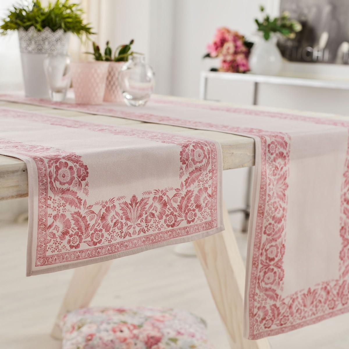 Τραβέρσα Gofis Home Verano Pink 360/17