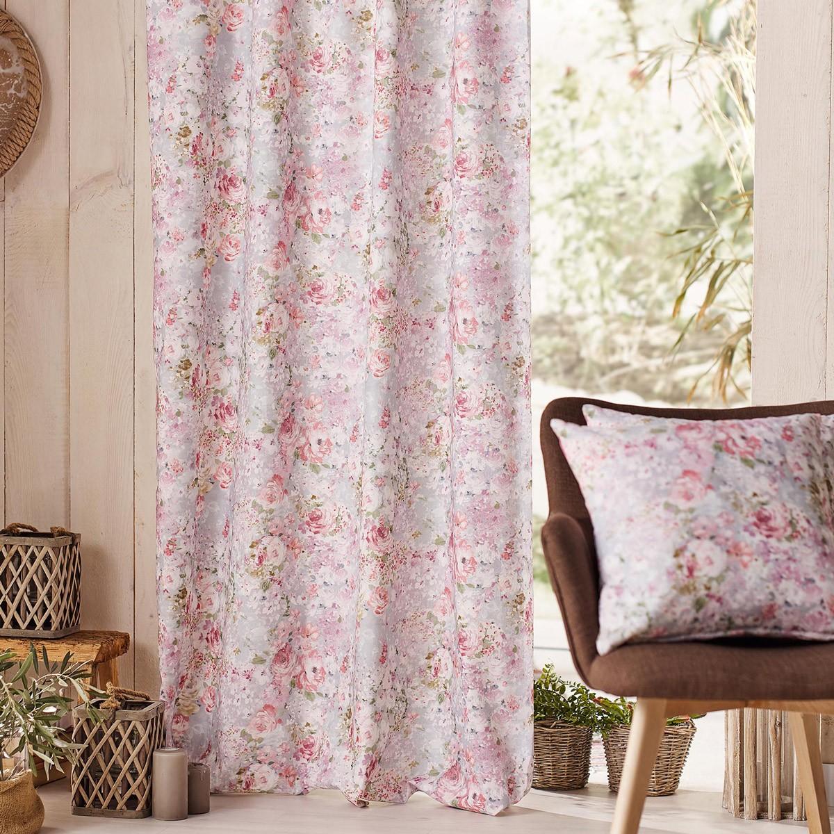 Κουρτίνα (140x260) Gofis Home Delphine Pink 221/17