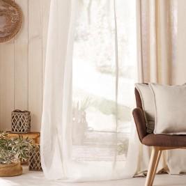 Κουρτίνα (140x280) Με Τρουκς Gofis Home Combe Off White 502/05