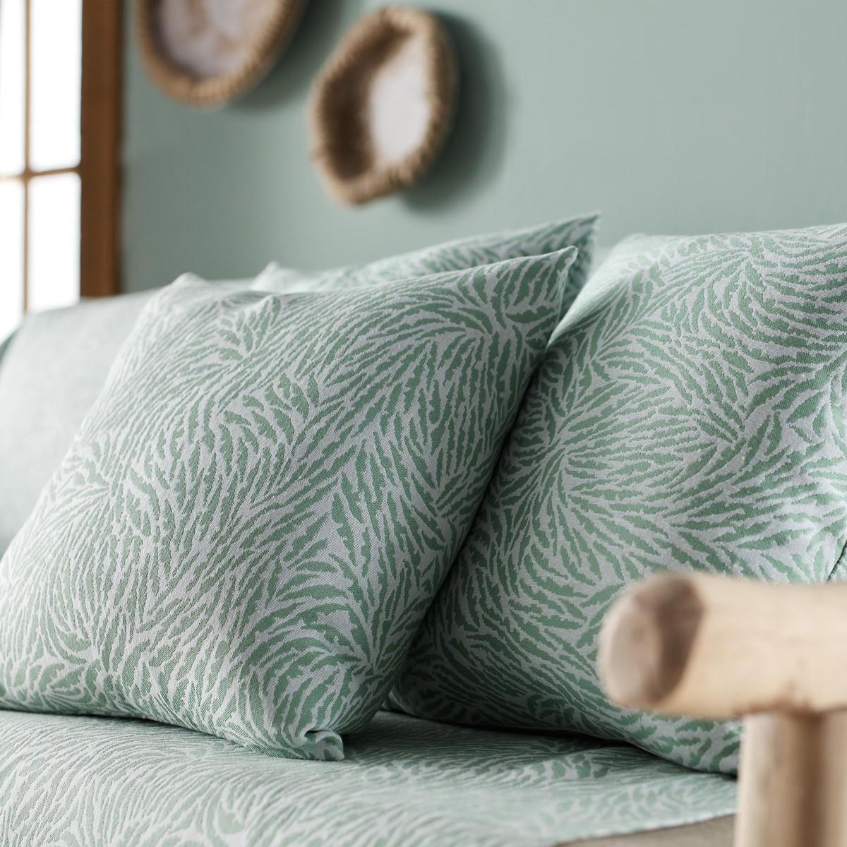 Διακοσμητική Μαξιλαροθήκη Gofis Home Tropical Mint 525/18