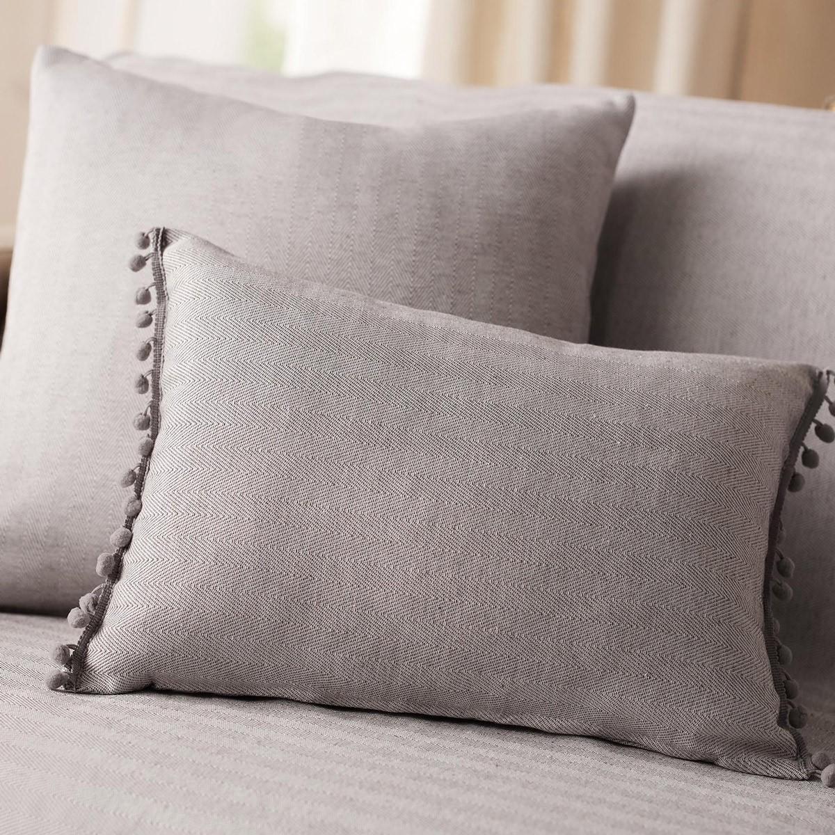 Διακοσμητική Μαξιλαροθήκη (30x45) Gofis Home Herring Grey 732/15