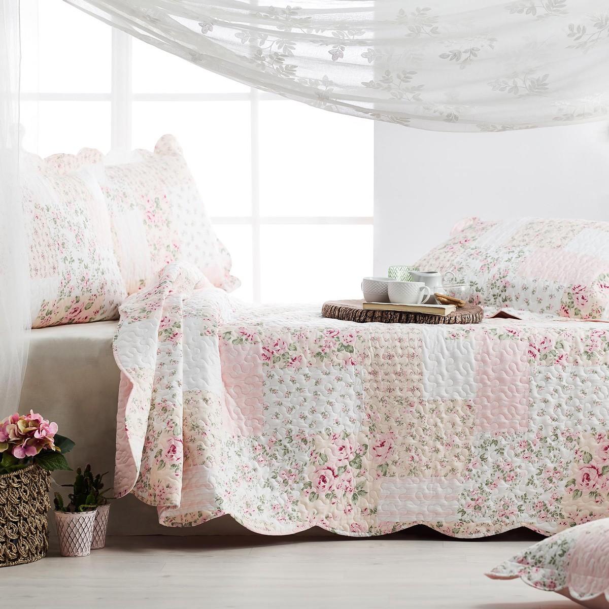 Κουβερλί Υπέρδιπλο (Σετ) Gofis Home Belle Pink 221/17