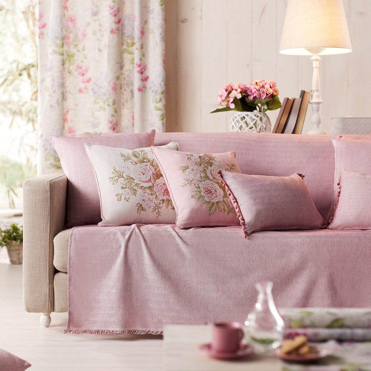 Ριχτάρι Τετραθέσιου (180×350) Gofis Home Rene Pink 732/17