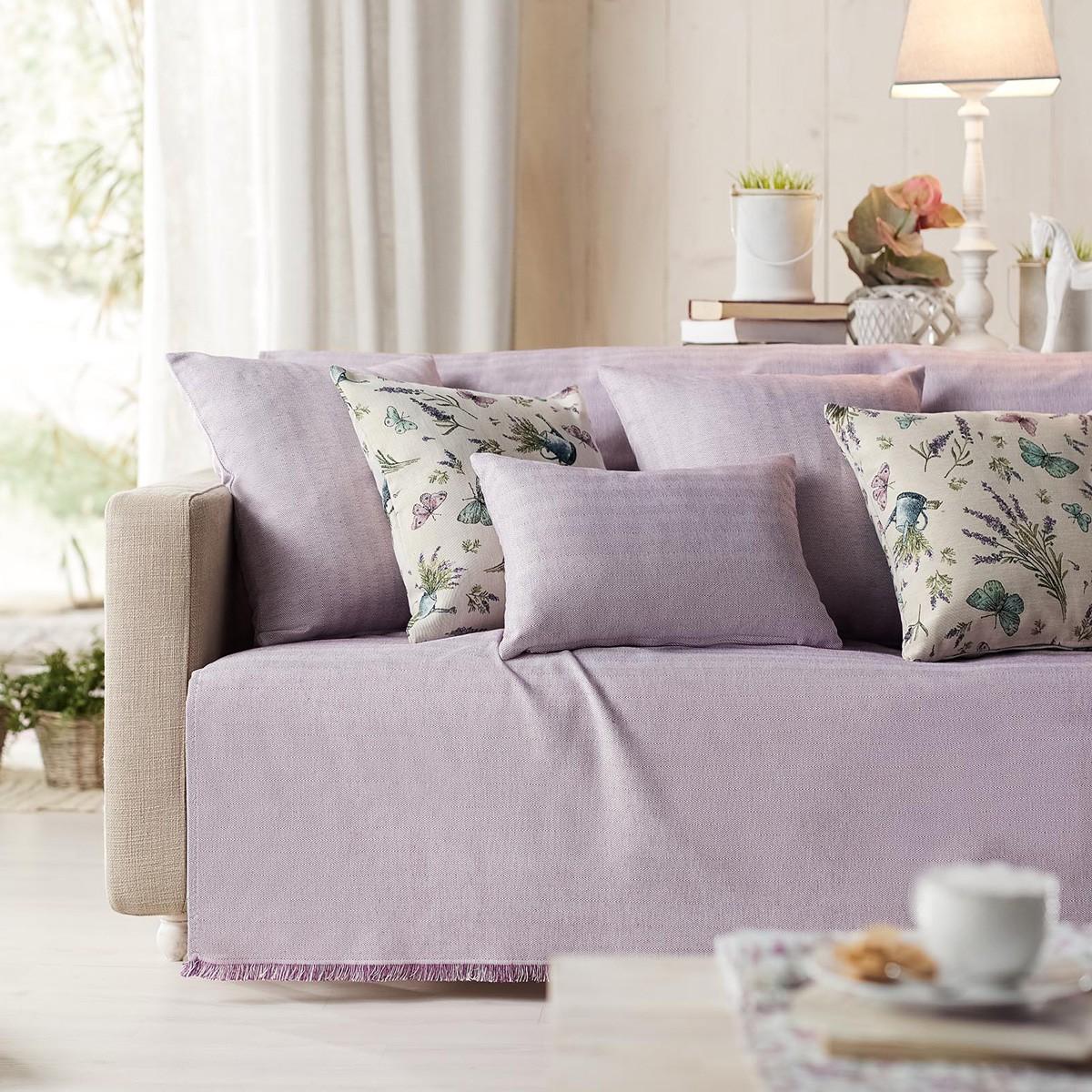 Ριχτάρι Τετραθέσιου (180×350) Gofis Home Rene Purple 732/19