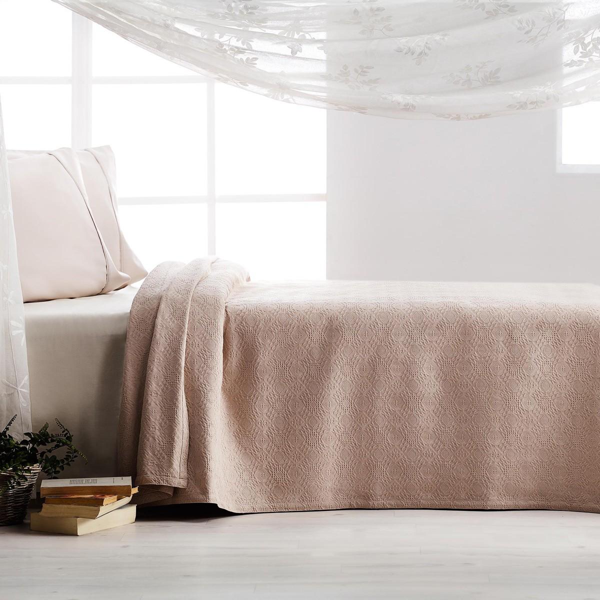 Κουβερτόριο Υπέρδιπλο Gofis Home Tenzin Beige 284/13 home   κρεβατοκάμαρα   κουβέρτες   κουβέρτες καλοκαιρινές υπέρδιπλες
