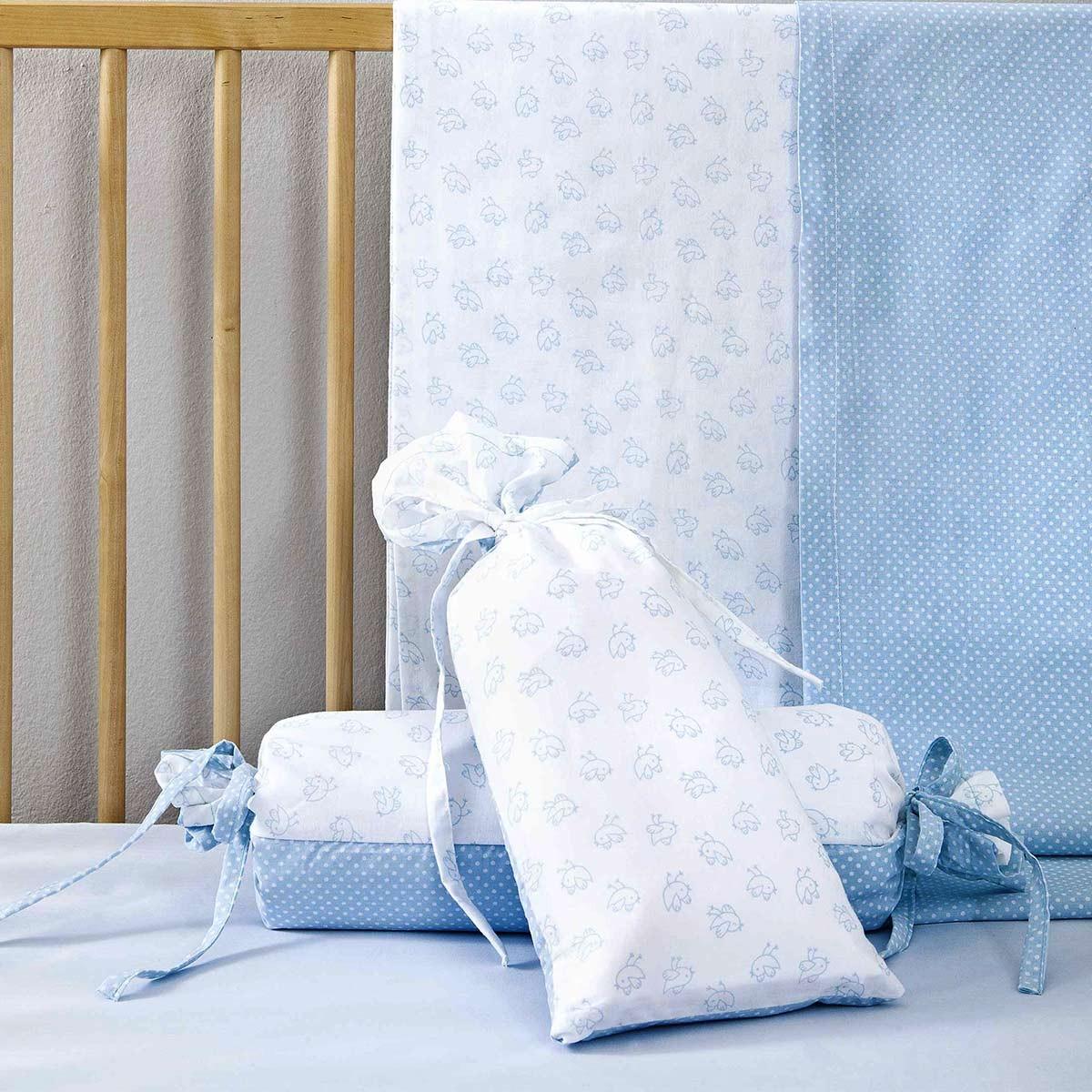 Σεντόνια Κούνιας (Σετ) Nima Birdies Blue