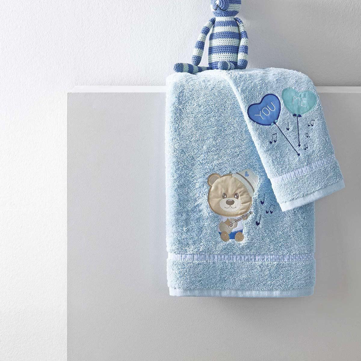 Βρεφικές Πετσέτες (Σετ 2τμχ) Nima NinnaNanna Blue