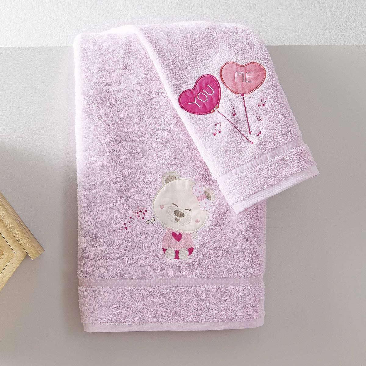 Βρεφικές Πετσέτες (Σετ 2τμχ) Nima NinnaNanna Pink