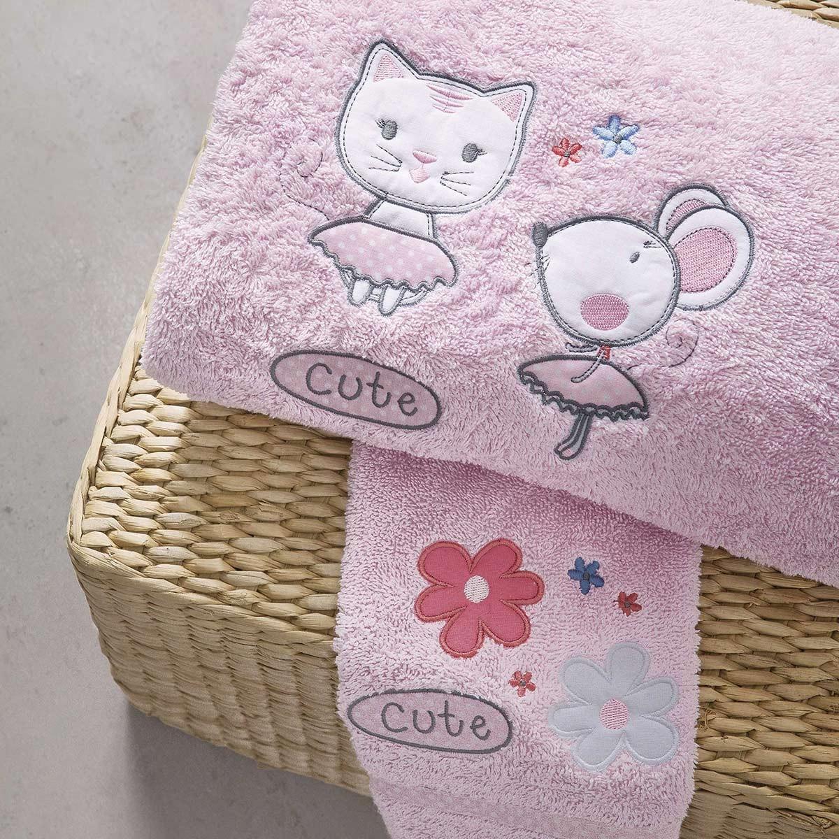Βρεφικές Πετσέτες (Σετ 2τμχ) Nima Cutie Cat