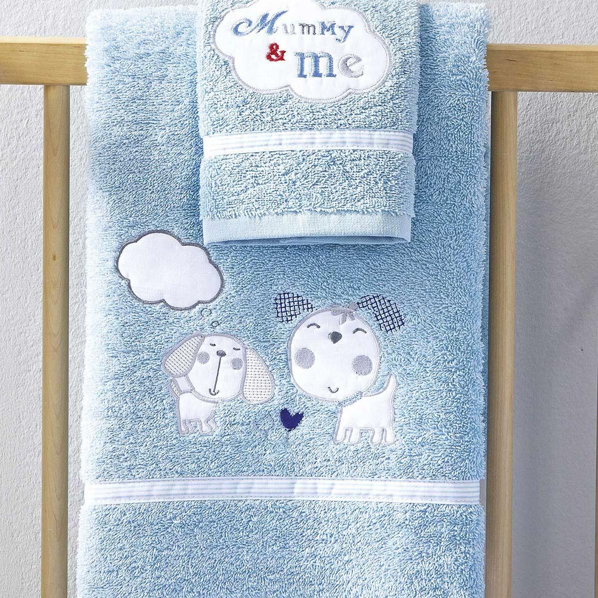 Βρεφικές Πετσέτες (Σετ 2τμχ) Nima Mummy&Me Blue