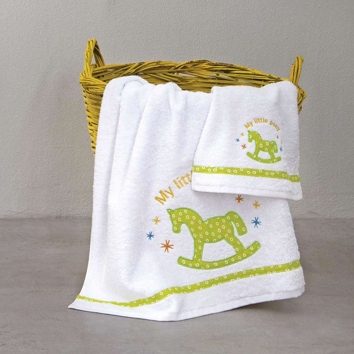 Βρεφικές Πετσέτες (Σετ 2τμχ) Nima Pony Green