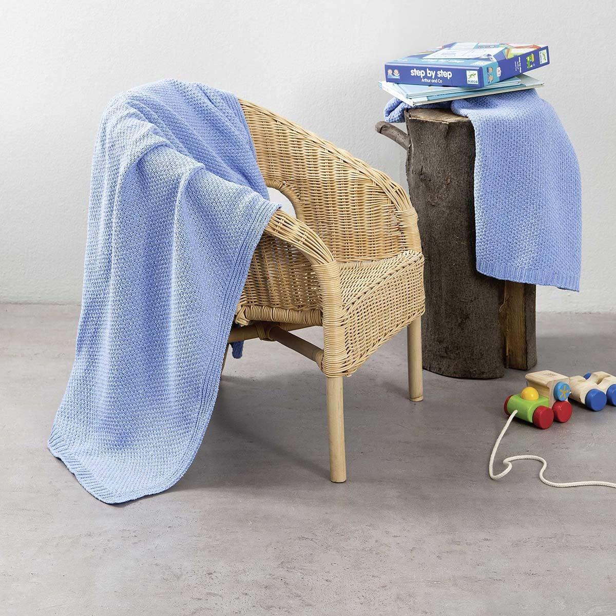 Κουβέρτα Πλεκτή Αγκαλιάς Nima Cuddle Blue