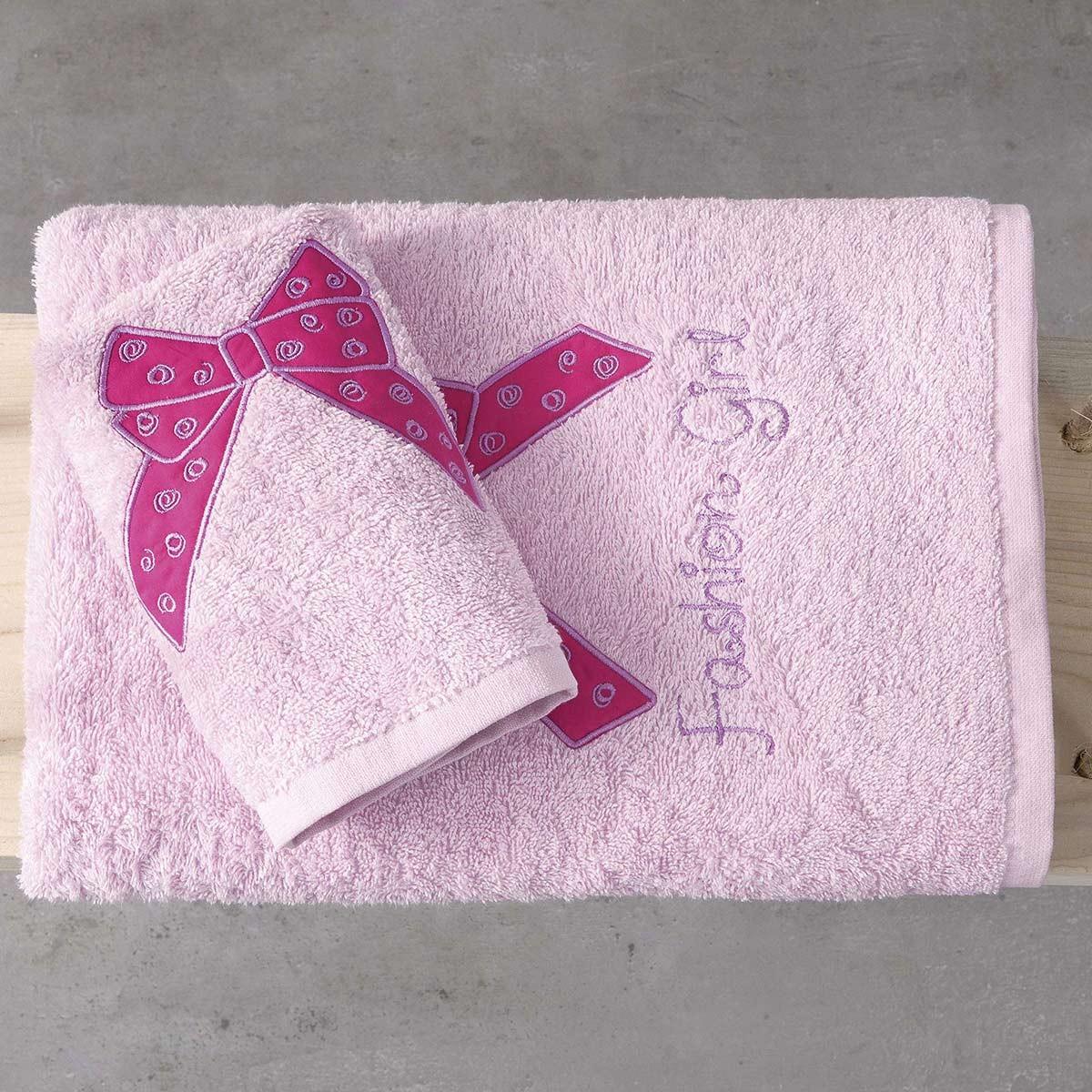 Παιδικές Πετσέτες (Σετ 2τμχ) Nima Kids Fashion Girl