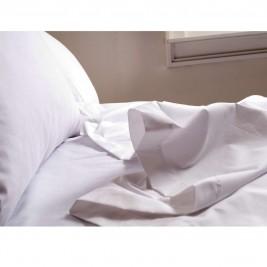 Σεντόνι Υπέρδιπλο Λευκό (240x280) Melinen Βαμβάκι Περκάλι 200TC