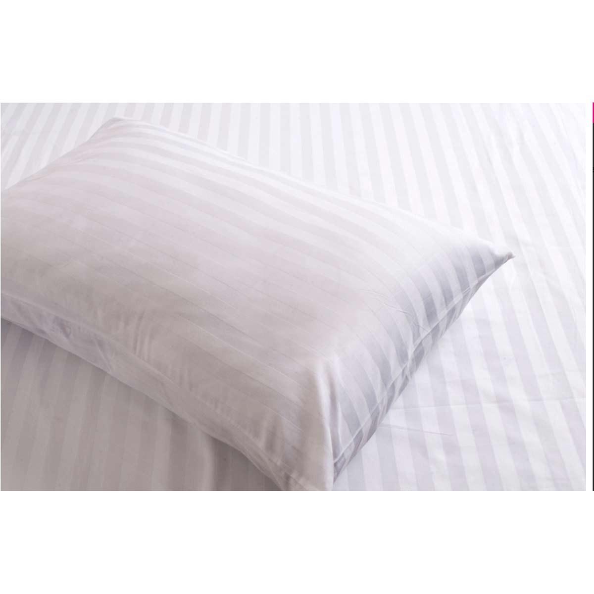 Σεντόνι Μονό Λευκό (160x270) Melinen Satin Stripe