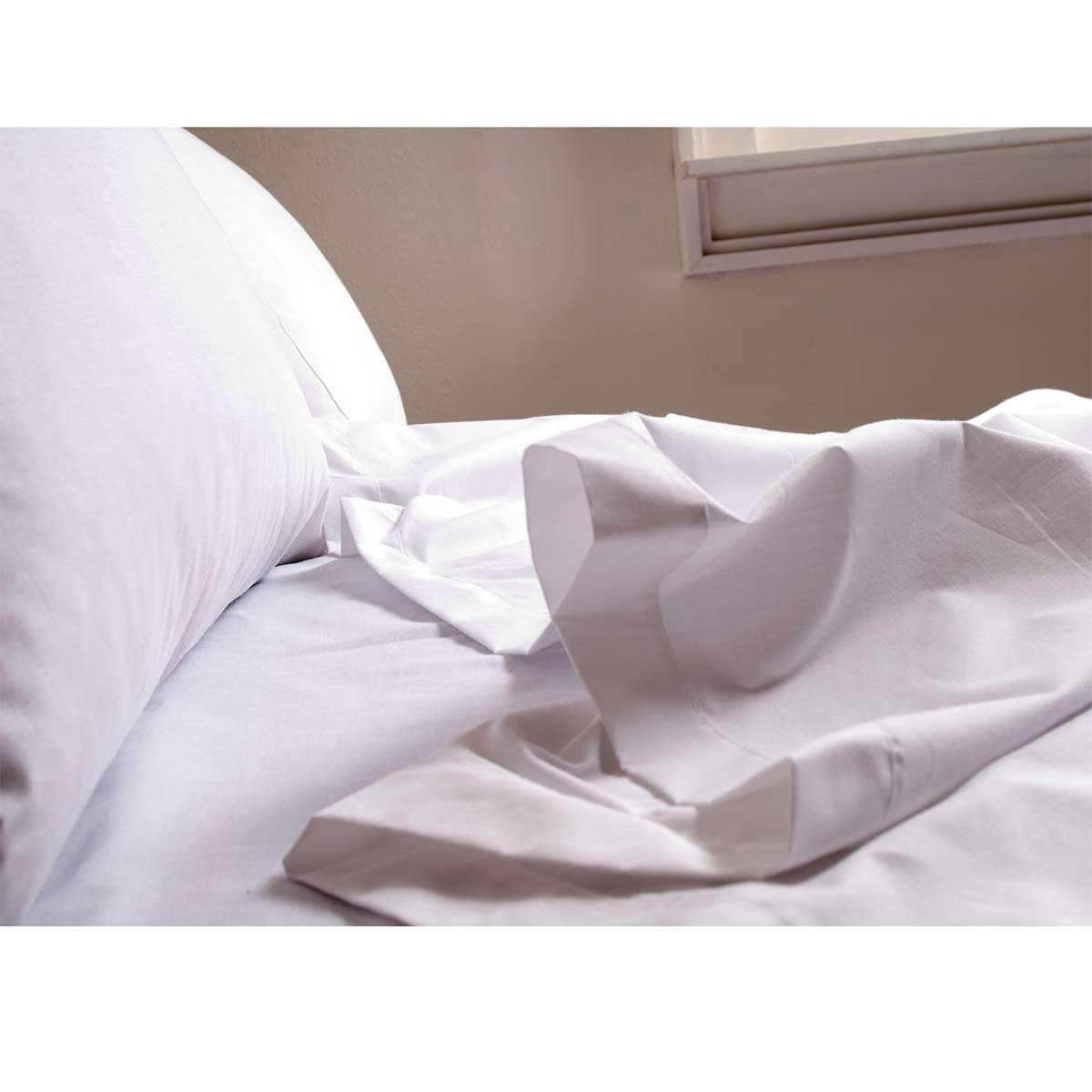 Σεντόνι Υπέρδιπλο Λευκό (220×260) Melinen Πενιέ Περκάλι 60/40