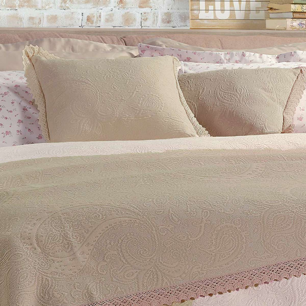 Διακοσμητικό Μαξιλάρι Nef-Nef Abigail Beige home   κρεβατοκάμαρα   διακοσμητικά μαξιλάρια