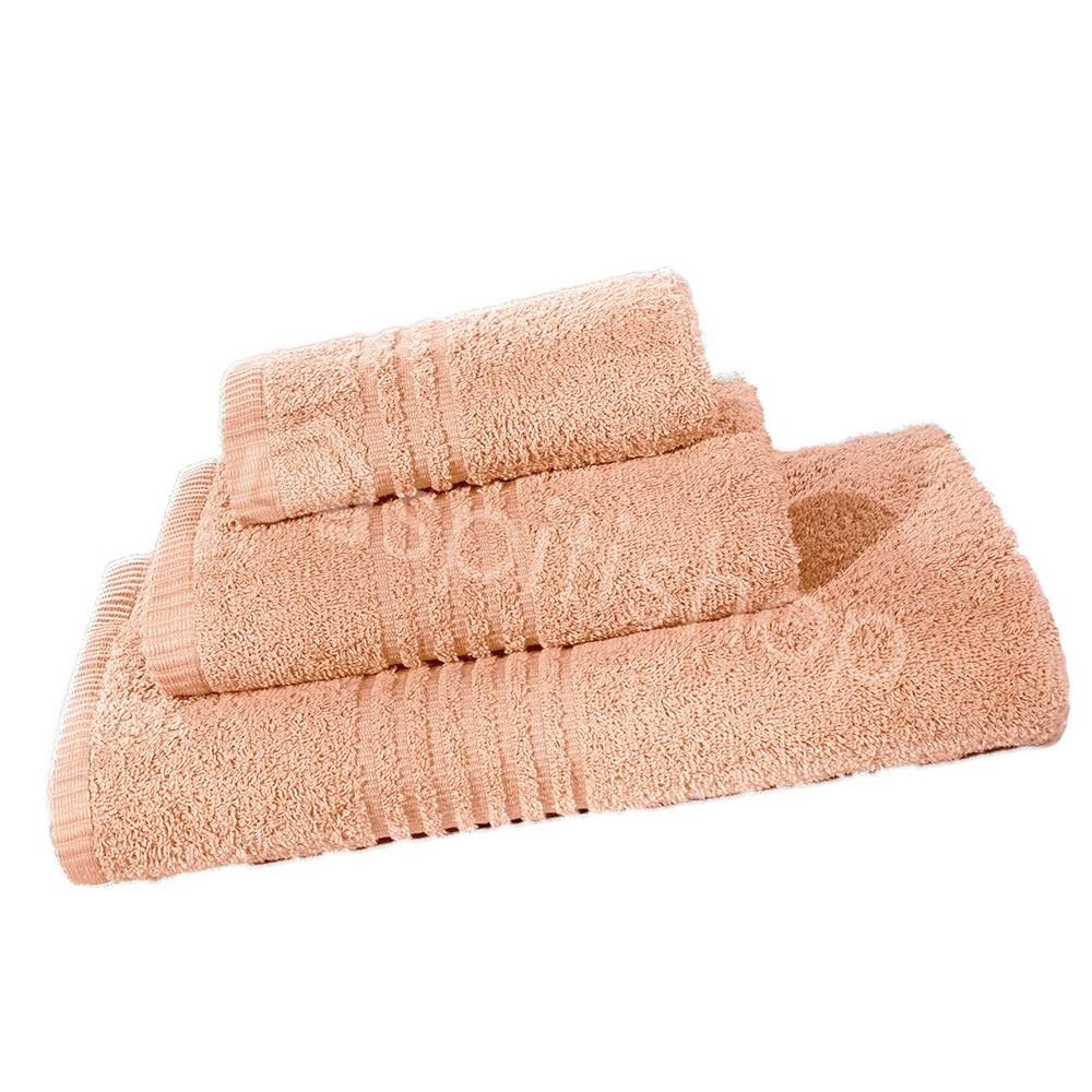 Πετσέτες Μπάνιου (Σετ 3τμχ) Nima Towels Savoia Salmon Pink