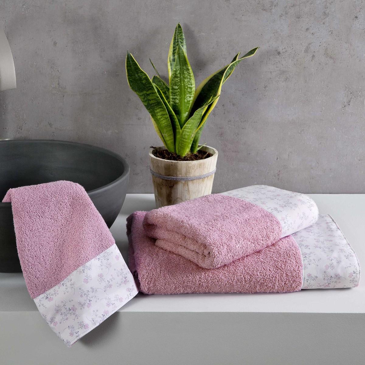 Πετσέτες Μπάνιου (Σετ 3τμχ) Nima Towels Secret Garden