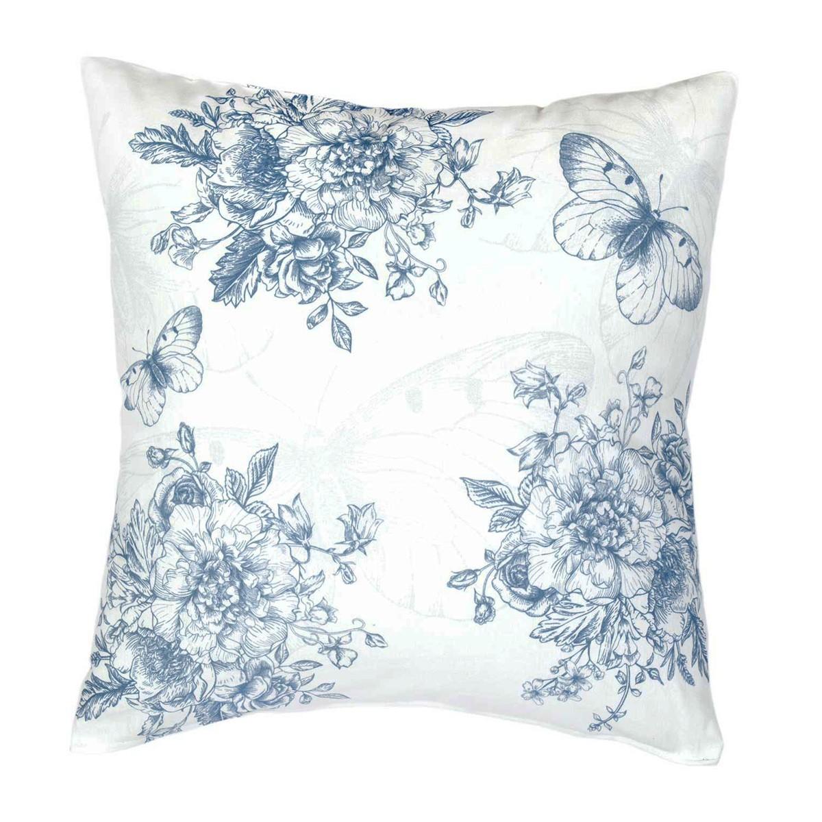 Διακοσμητική Μαξιλαροθήκη Nima Cushions Whitehall Blue