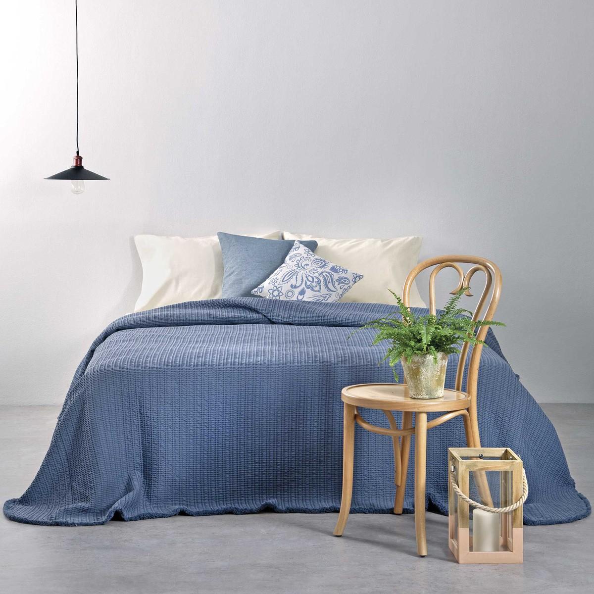 Κουβερτόριο Υπέρδιπλο Nima Layers Pitigliano Blue home   κρεβατοκάμαρα   κουβέρτες   κουβέρτες καλοκαιρινές υπέρδιπλες