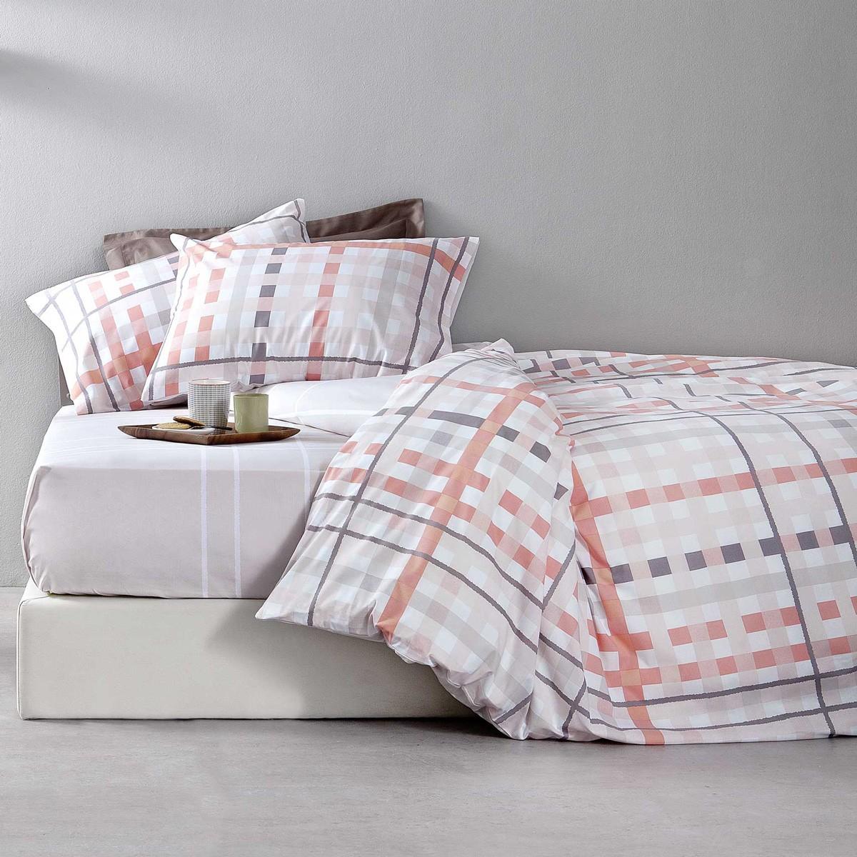 Κουβερλί Υπέρδιπλο Nima Bed Linen Damino Pink