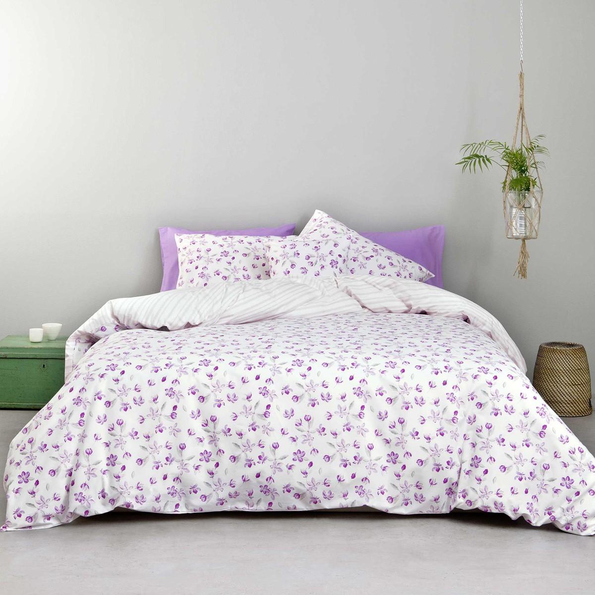 Κουβερλί Υπέρδιπλο Nima Bed Linen Water Lily Lilac