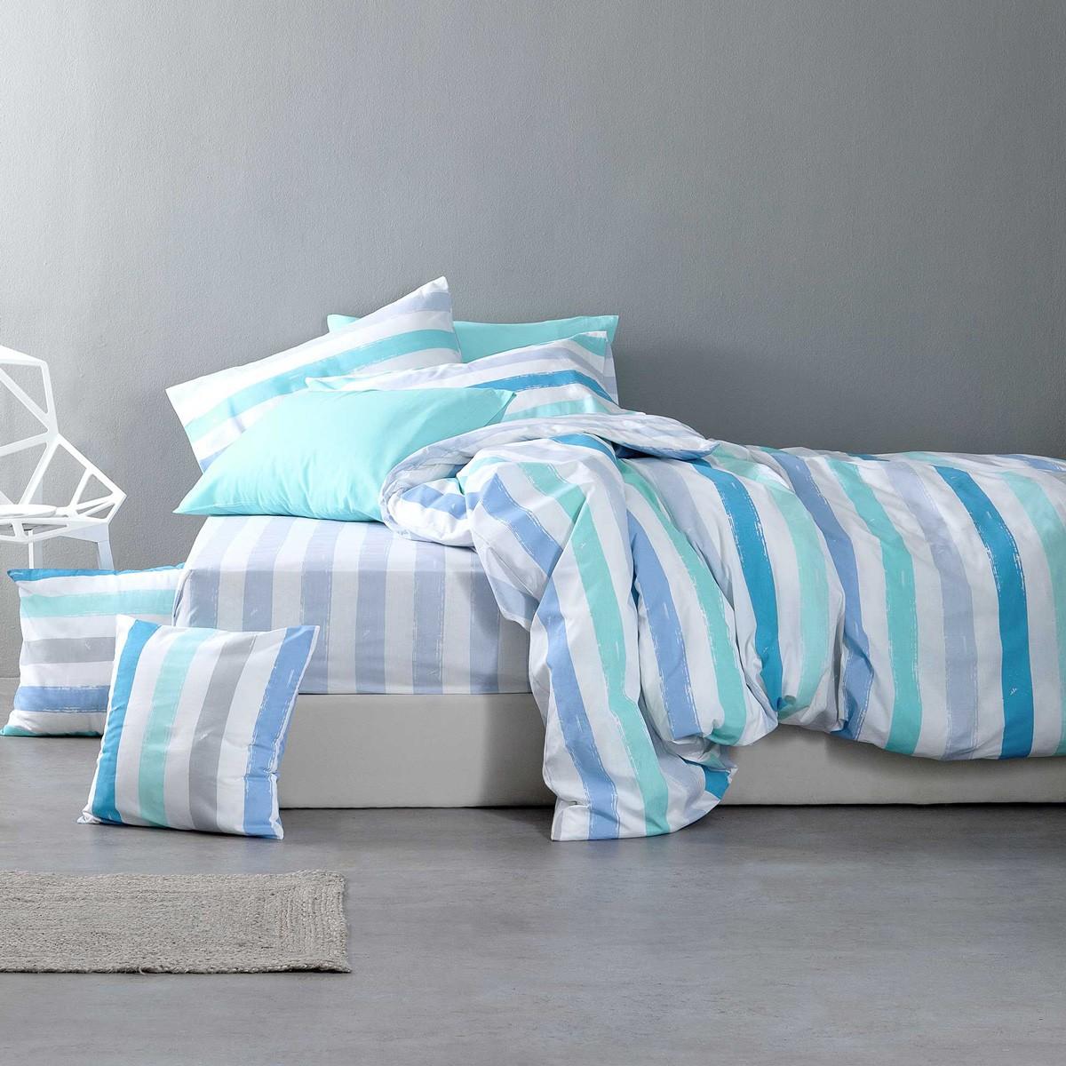 Σεντόνια Υπέρδιπλα (Σετ) Nima Bed Linen Cantieri Blue ΜΕ ΛΑΣΤΙΧΟ ΜΕ ΛΑΣΤΙΧΟ