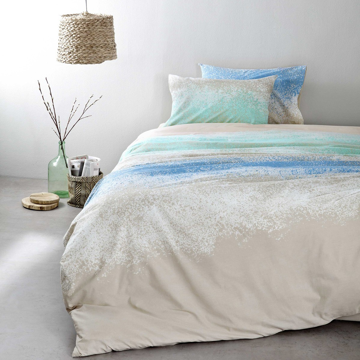 Σεντόνια Υπέρδιπλα (Σετ) Nima Bed Linen Samoa Blue ΜΕ ΛΑΣΤΙΧΟ ΜΕ ΛΑΣΤΙΧΟ