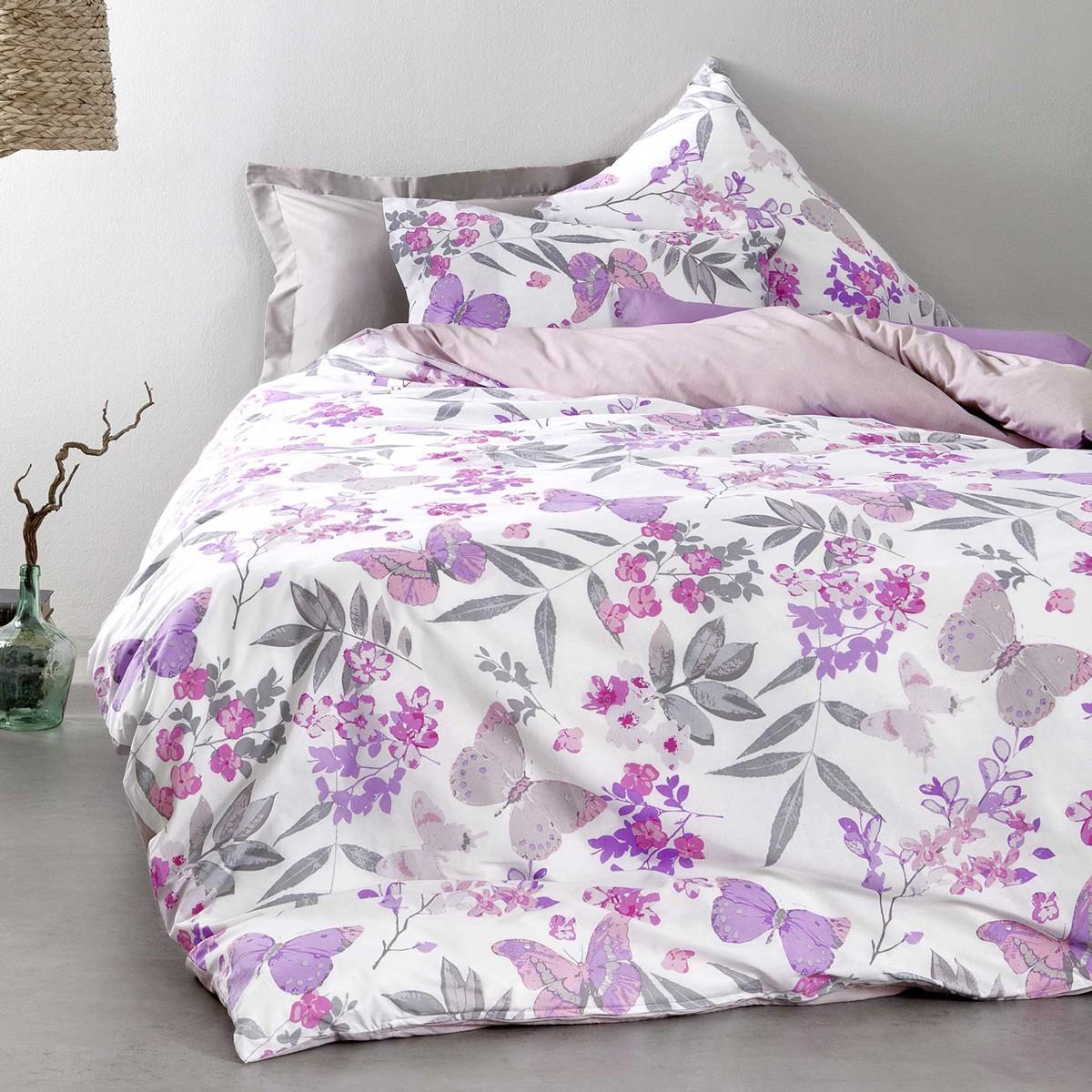 Σεντόνια Υπέρδιπλα (Σετ) Nima Bed Linen Tahiti Lilac ΧΩΡΙΣ ΛΑΣΤΙΧΟ ΧΩΡΙΣ ΛΑΣΤΙΧΟ