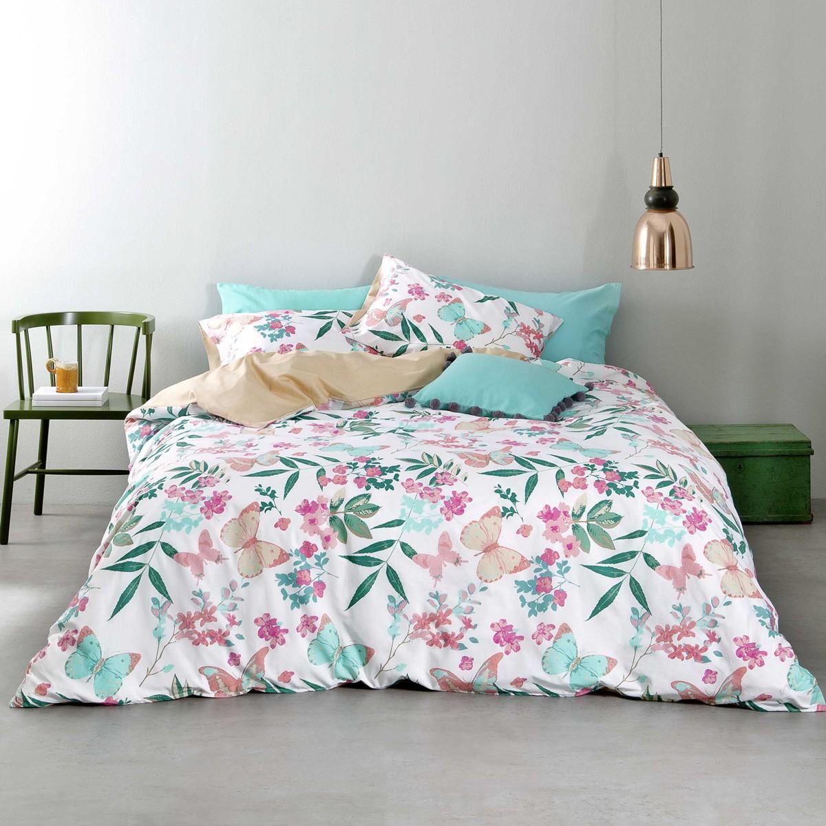 Σεντόνια Υπέρδιπλα (Σετ) Nima Bed Linen Tahiti Pink ΧΩΡΙΣ ΛΑΣΤΙΧΟ ΧΩΡΙΣ ΛΑΣΤΙΧΟ
