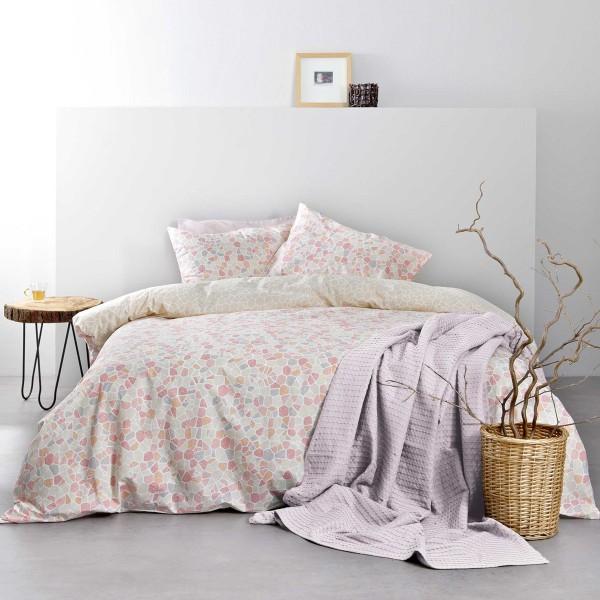 Σεντόνια Υπέρδιπλα (Σετ) Nima Bed Linen Boracay Pink