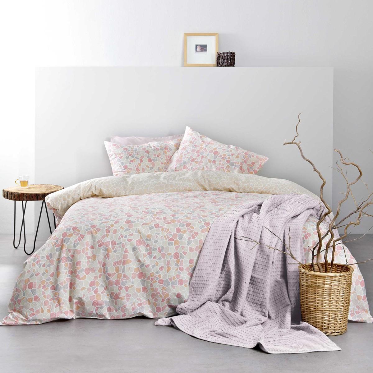 Σεντόνια Υπέρδιπλα (Σετ) Nima Bed Linen Boracay Pink ΜΕ ΛΑΣΤΙΧΟ ΜΕ ΛΑΣΤΙΧΟ
