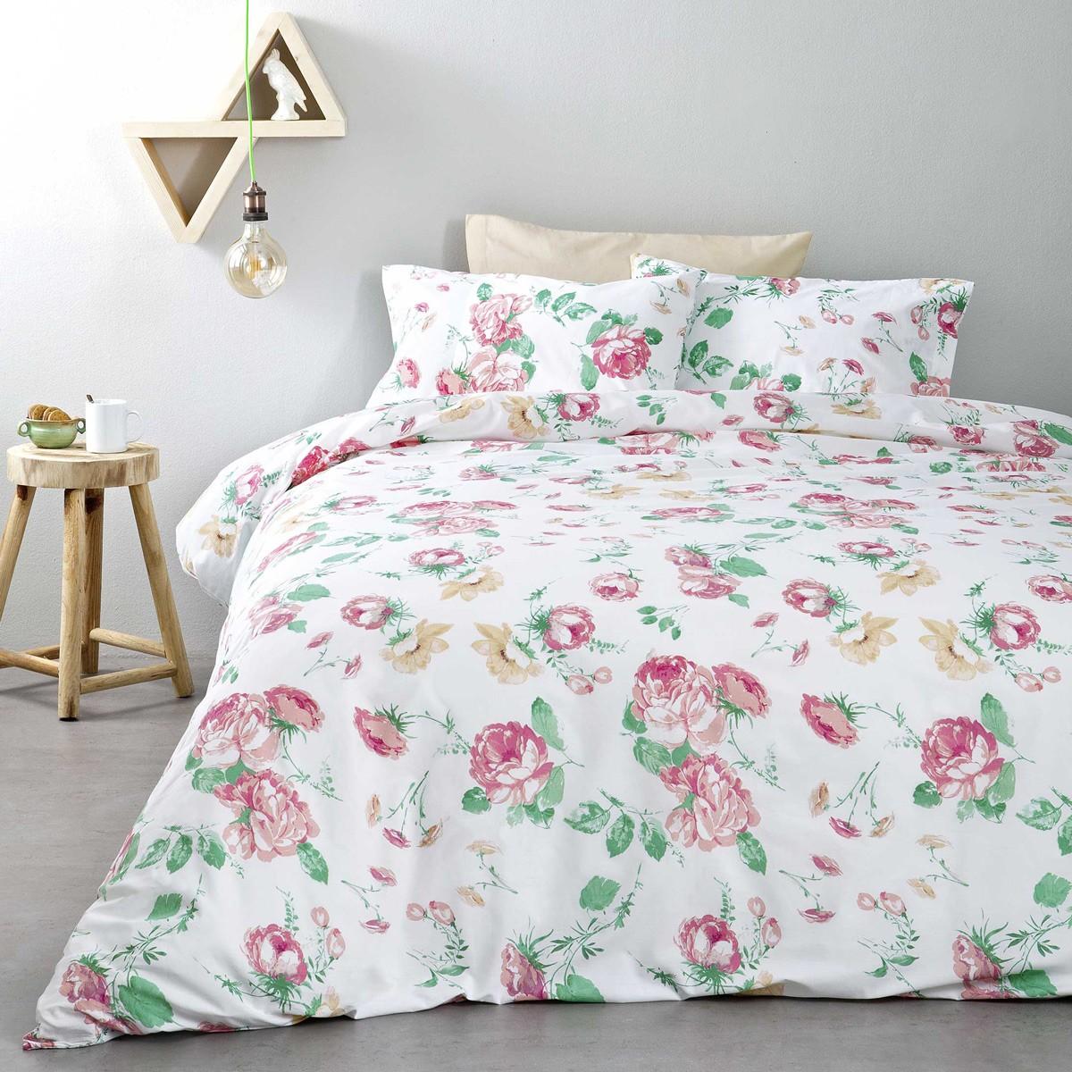 Σεντόνια Υπέρδιπλα (Σετ) Nima Bed Linen Blooming ΜΕ ΛΑΣΤΙΧΟ ΜΕ ΛΑΣΤΙΧΟ