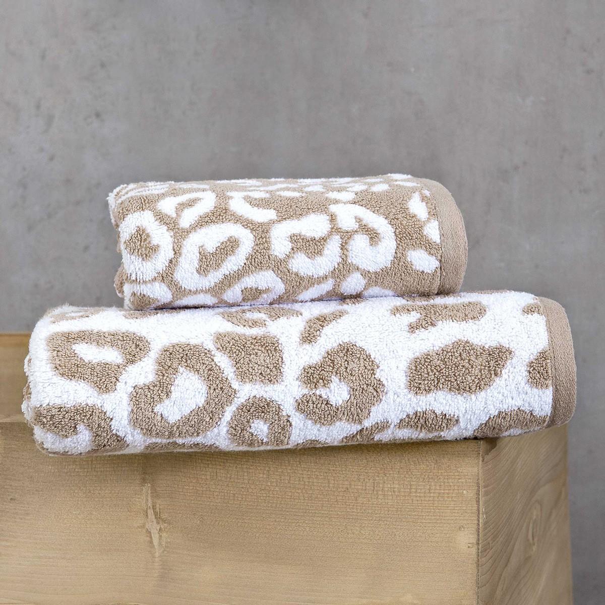 Πετσέτες Προσώπου (Σετ 2τμχ) Nima Elements Kotiya 01 Beige