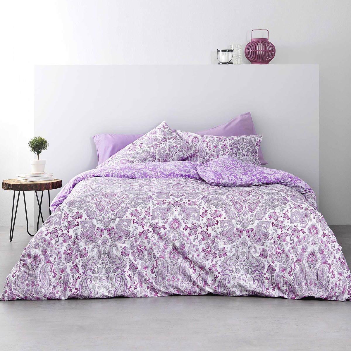 Κουβερλί Υπέρδιπλο Nima Bed Linen Ananta Lilac
