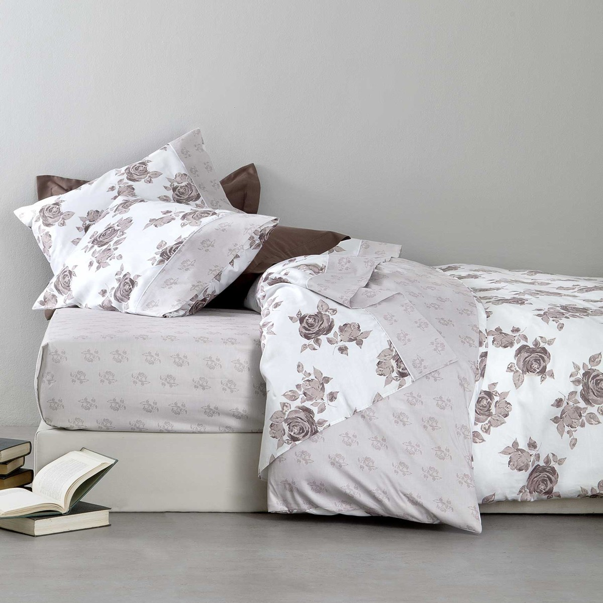 Σεντόνια Υπέρδιπλα (Σετ) Nima Bed Linen Rosalie Moca