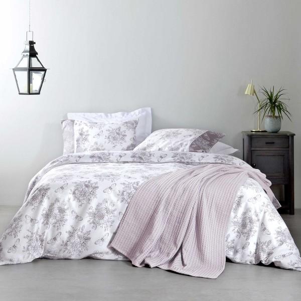 Σεντόνια Υπέρδιπλα (Σετ) Nima Bed Linen Whitehall Moca