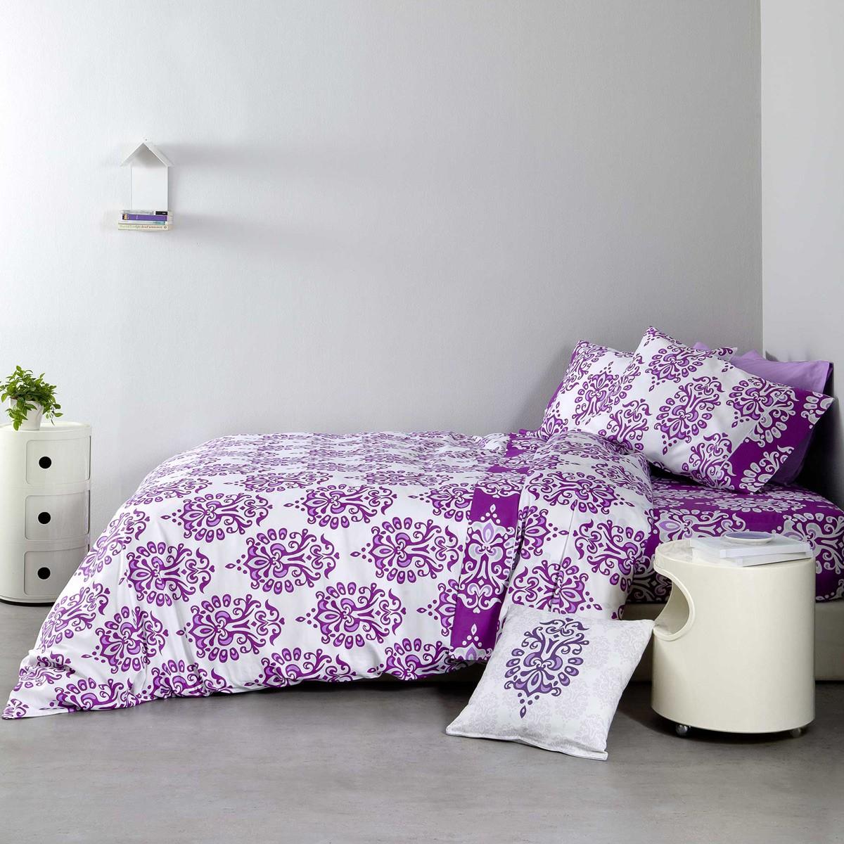 Σεντόνια Υπέρδιπλα (Σετ) Nima Bed Linen Ariadne Purple