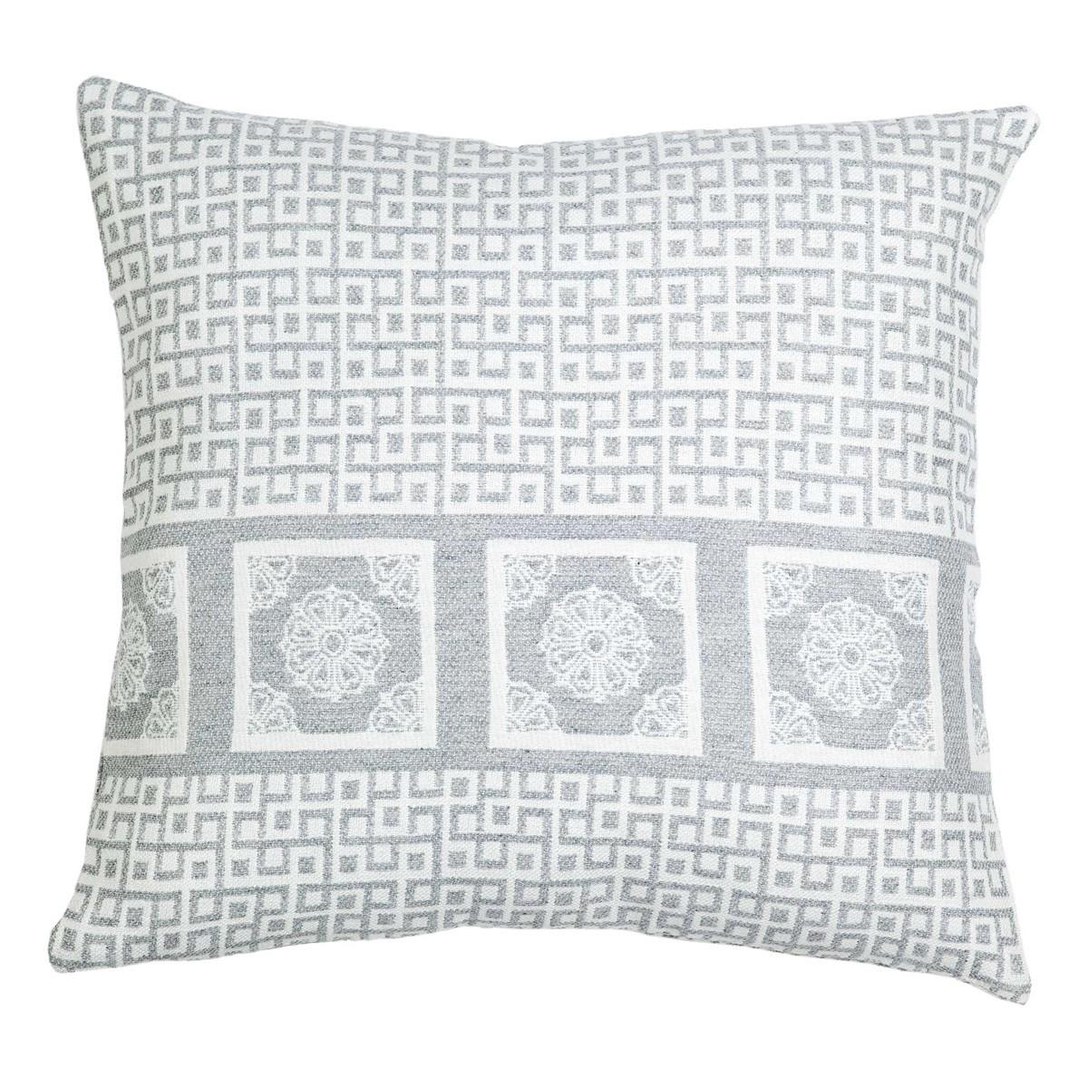 Διακοσμητική Μαξιλαροθήκη Nima Cushions Meandri Grey