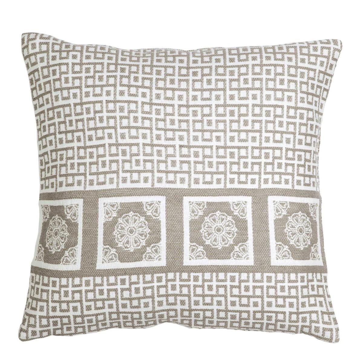 Διακοσμητική Μαξιλαροθήκη Nima Cushions Meandri Beige